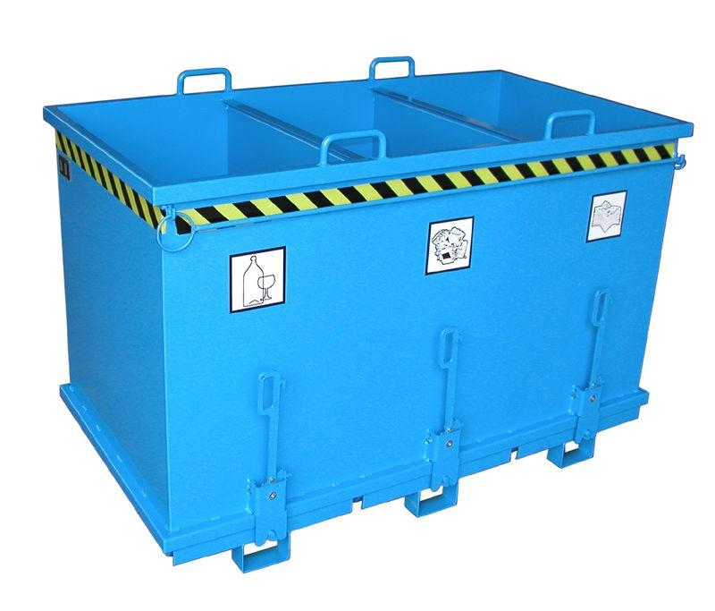 Container metalic compartimentat pentru deseuri selective