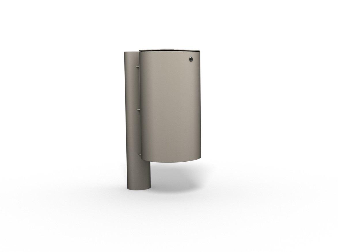 Cos de gunoi cilindric din metal